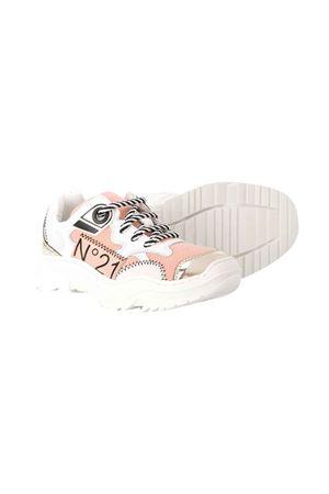 White teen sneakers with round tip N°21 N°21 KIDS | 12 | 64032VAR4T