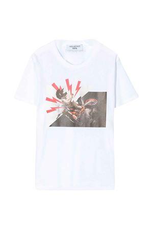 T-shirt bianca teen con stampa Neil Barrett kids NEIL BARRETT KIDS   8   024639001T