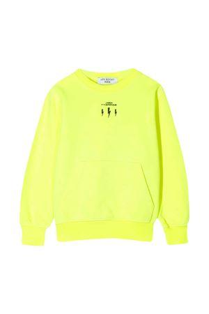 Felpa gialla teen con logo frontale Neil Barrett kids NEIL BARRETT KIDS   -108764232   024962FL023T