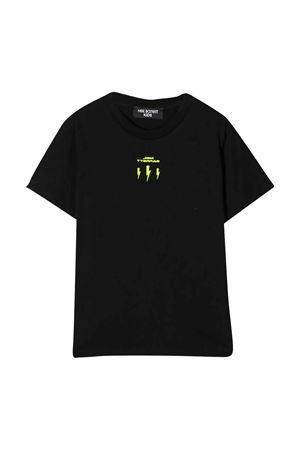 T-shirt nera con logo frontale Neil Barrett kids NEIL BARRETT KIDS   8   024963110