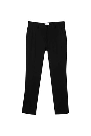 Black tailored straight cut trousers Paolo Pecora kids Paolo Pecora kids | 9 | PP2152NERO