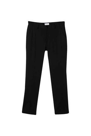 Black teen tailored straight cut trousers Paolo Pecora kids Paolo Pecora kids | 2011689977 | PP2152NEROT