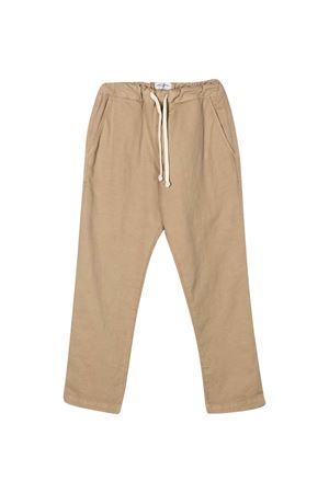 Beige teen straight cut trousers paolo Pecora kids Paolo Pecora kids | 9 | PP2280BEIGET