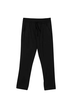 Black teen tapered trousers Paolo Pecora kids Paolo Pecora kids | 9 | PP2330NEROT