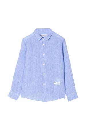 Camicia azzurra con logo Paolo Pecora kids Paolo Pecora kids | 5032334 | PP2335AZZURRO