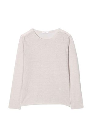 Pearl colored shirt with round neck Paolo Pecora kids Paolo Pecora kids | 7 | PP2348PERLA