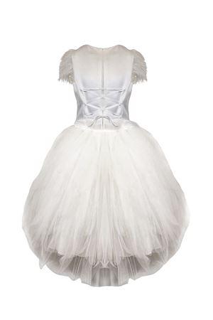 White satin teen dress Petit Petit   11   2014543SST588020T