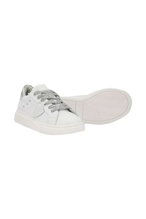 White sneakers with silver details Philippe Model kids PHILIPPE MODEL KIDS | 12 | BAL0VM1