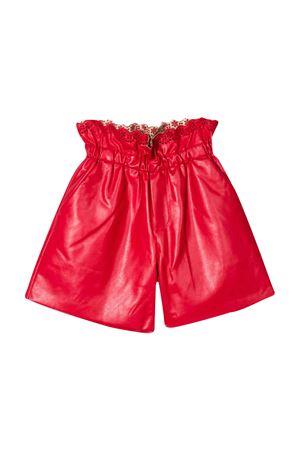 Shorts lucidi rossi con merletti Philosophy kids PHILOSOPHY KIDS | 30 | PJBE17PE48VH0290134