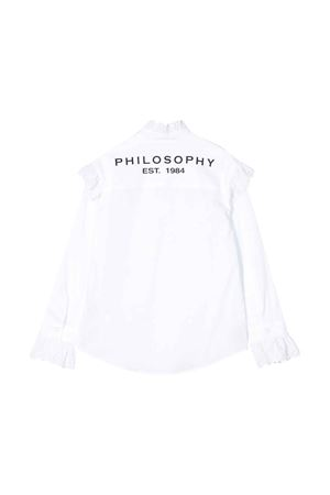 Camicia bianca con ruches Philosophy kids PHILOSOPHY KIDS | 5032334 | PJCA30CA244VH0130101