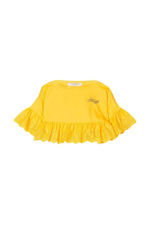 Yellow teen top with embroidered details Philosophy kids PHILOSOPHY KIDS | 40 | PJCA38CA244VH0120093T
