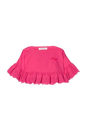 Top fucsia con bordo in pizzo Philosophy kids PHILOSOPHY KIDS | 40 | PJCA38CA244VH0120095