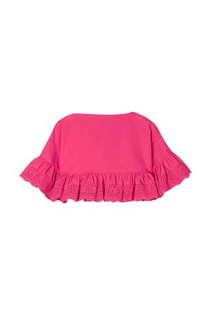 Fuchsia top with lace edges Philosophy kids PHILOSOPHY KIDS | 40 | PJCA38CA244VH0120095