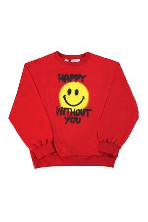 Red sweatshirt with frontal press Philosophy kids PHILOSOPHY KIDS | -108764232 | PJFE23FE147VH1200224
