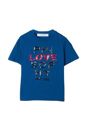 T-shirt blu con logo frontale Philosophy kids PHILOSOPHY KIDS | 8 | PJTS28JE138VH0030035