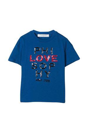 T-shirt blu teen con logo frontale Philosophy kids PHILOSOPHY KIDS | 8 | PJTS28JE138VH0030035T
