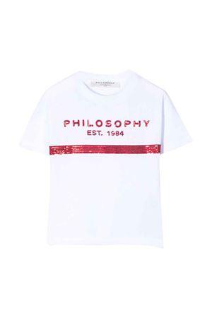 T-shirt bianca teen con lustrini Philosophy kids PHILOSOPHY KIDS | 8 | PJTS29JE138VH0020022T