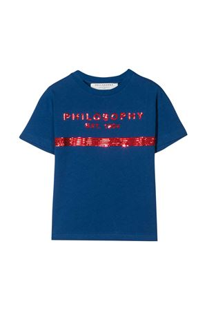 T-shirt blu con lustrini Philosophy kids PHILOSOPHY KIDS | 8 | PJTS29JE138VH0020025