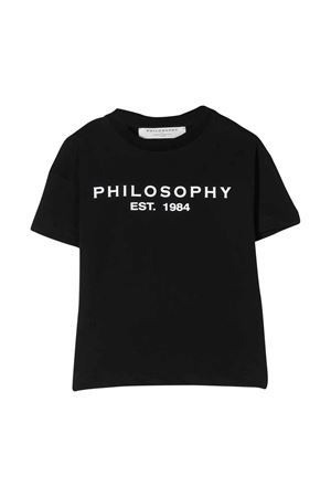 T-shirt nera con logo frontale Philosophy kids PHILOSOPHY KIDS | 8 | PJTS29JE138VH0210156