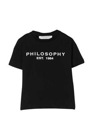 T-shirt nera teen con logo frontale Philosophy kids PHILOSOPHY KIDS | 8 | PJTS29JE138VH0210156T