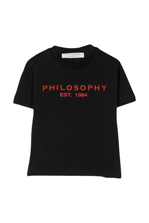 T-shirt nera con logo frontale Philosophy kids PHILOSOPHY KIDS | 8 | PJTS29JE138VH0210157