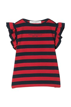 T-shirt a righe blu e rosse Philosophy kids PHILOSOPHY KIDS | 8 | PJTS39JR02VH0050013