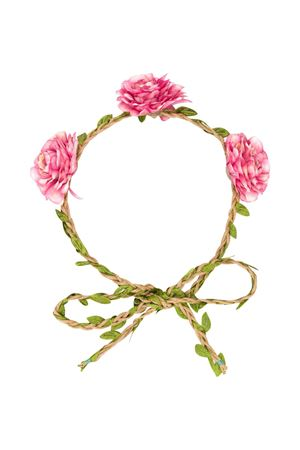 Pink headband with flowers Piccola Ludo Piccola Ludo | -641015623 | BF5WA003C000001013