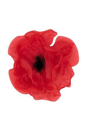 Red flower-shaped brooch Piccola Ludo Piccola Ludo | 27 | BF5WA004C000001010
