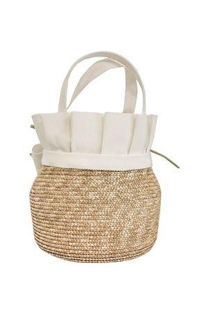 Straw bag model Ametista with tulle and applied flowers Raffaella RAFFAELLA | 31 | CESTOAMETISTA01