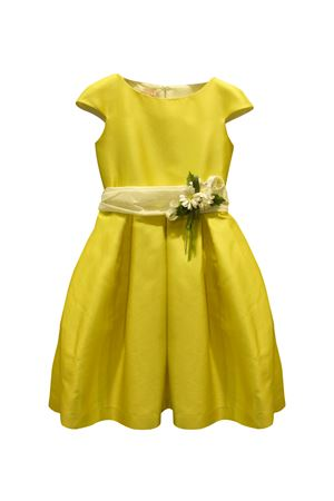 Yellow dress with flower applied Giada Raffaella model RAFFAELLA | 11 | GIADAGIALLO34