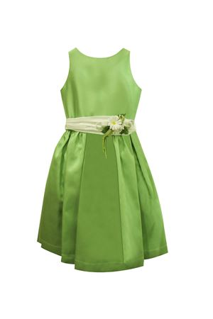 Green dress with flower applied model Giada Raffaella RAFFAELLA | 11 | GIADAVERDE35