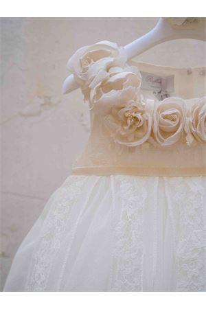 Empire style pearl white dress with applied flowers Raffaella RAFFAELLA | 11 | PERLA2STILEIMPERO01