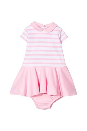 White and light pink baby dress Ralph Lauren kids RALPH LAUREN KIDS | 75988882 | 310765704003