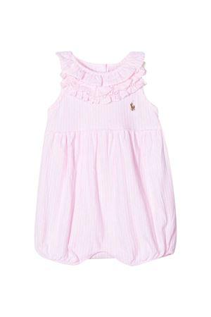 Tuta rosa a righe con balze Ralph Lauren kids RALPH LAUREN KIDS | 1491434083 | 310785194004