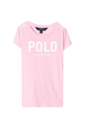 Pink polo shirtwith white press Ralph Lauren Kids RALPH LAUREN KIDS | 2 | 312793933002