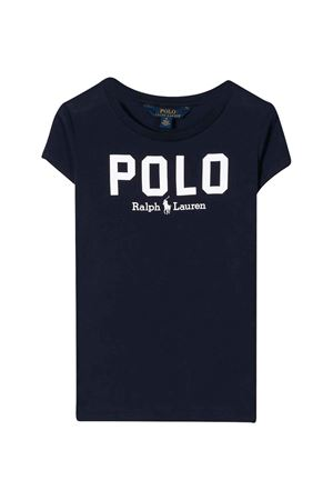 Blue polo shirt with white press Ralph Laurel Kids RALPH LAUREN KIDS | 2 | 312793933003