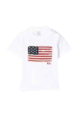 T-shirt bianca con stampa multicolor Ralph Lauren kids RALPH LAUREN KIDS | 8 | 320695660004