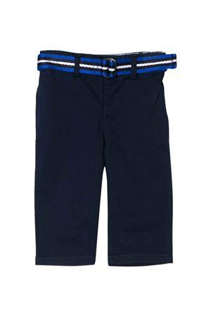 Pantalone blu con cintura Ralph Lauren kids RALPH LAUREN KIDS | 9 | 320785694003