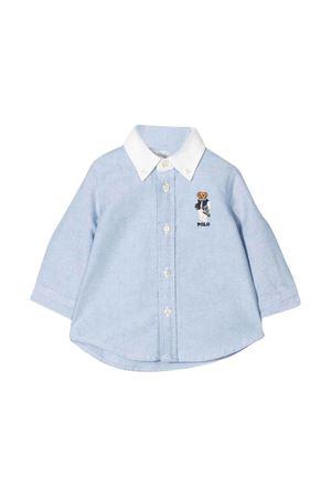 T-shirt blu con colletto bianco Ralph Lauren Kids RALPH LAUREN KIDS | 8 | 320785755001