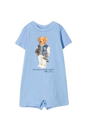 Tutina blu con stampa Ralph Lauren Kids RALPH LAUREN KIDS | 1491434083 | 320787299002