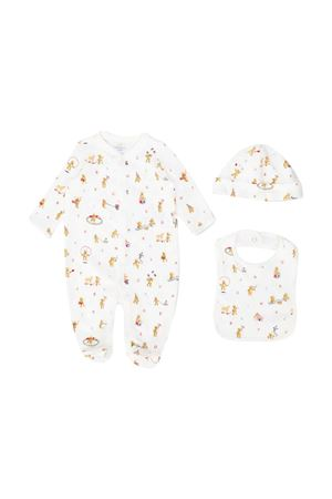 Set bianco 3 pezzi con stampa Ralph Lauren Kids RALPH LAUREN KIDS | 75988882 | 320790518001