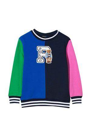 Felpa multicolor con applicazione Ralph Lauren kids RALPH LAUREN KIDS | 7 | 322785947001