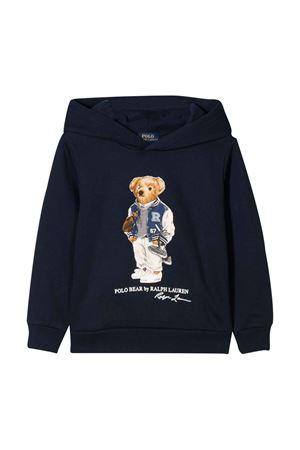 Felpa blu con cappuccio Ralph Lauren kids RALPH LAUREN KIDS | 5032280 | 322800660003