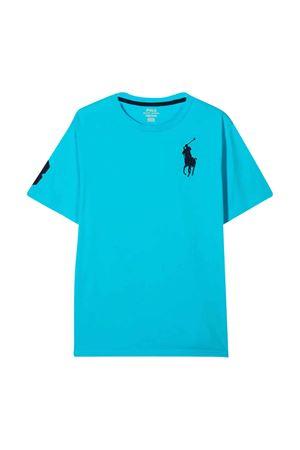 T-shirt azzurra Ralph Lauren kids teen RALPH LAUREN KIDS | 8 | 323770177011T