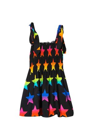 Abito nero svasato con stampa multicolor Saint Barth MC2 SAINT BARTH KIDS | 85 | LOLARNSC00