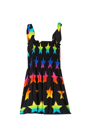 Black flared dress with multicolor stars Saint Barth MC2 SAINT BARTH KIDS | 85 | LOLARNSC00