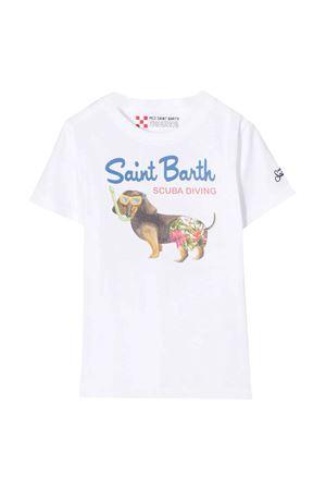 T-shirt bianca con stampa frontale Saint Barth SAINT BARTH | 8 | TSHIRTBOYSCUD01