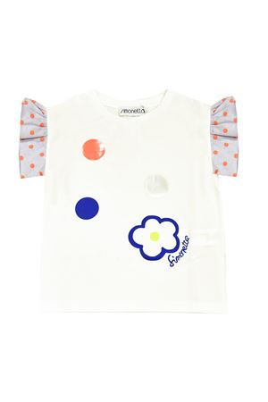White t-shirt with multicolor press Simonetta Simonetta | 8 | 1M8111MC960100