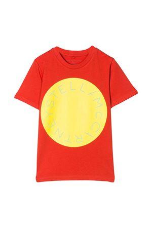 T-shirt rossa con stampa gialla Monnalisa kids STELLA MCCARTNEY KIDS | 8 | 588483SOJG97545