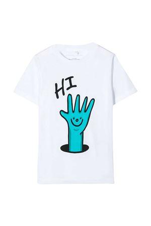 T-shirt bianca con stampa multicolor Stella McCartney kids STELLA MCCARTNEY KIDS | 8 | 588484SOJ999082